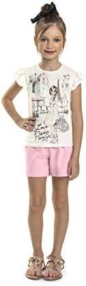 Conjunto Infantil Blusa E Shorts Infantil, Quimby, Meninas