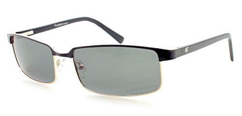 fatheadz eyewear mens vito polarized rectangular sunglasses black 610 mm
