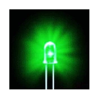 Bluecell 50 PCS Green LED Electronics 5mm Bulb light