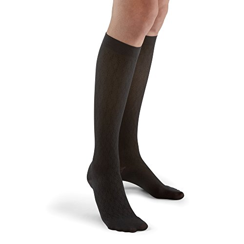 15mm Compression Sock (Futuro Revitalizing Trouser Socks for Women, Medium, Black, Moderate Compression)