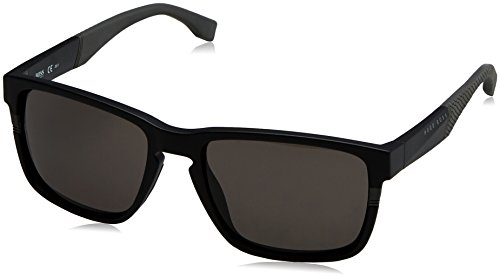 BOSS by Hugo Boss Men's Boss 0916/s Rectangular Sunglasses, MATT BLACK, 57 mm