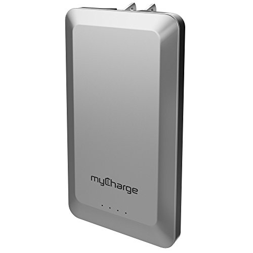 myCharge Home&Go Portable Charger 4,000mAh External Battery Pack Power Bank Foldable Wall Plug for Cell Phones (Apple iPhone XS, XS Max, XR, X, 8, 7, 6, SE, 5, Samsung Galaxy, LG, Motorola, HTC)