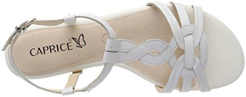 Caprice Kvinder 28101 Slingback Sandaler Hvid (hvid Nappa 102) D2hJNaH