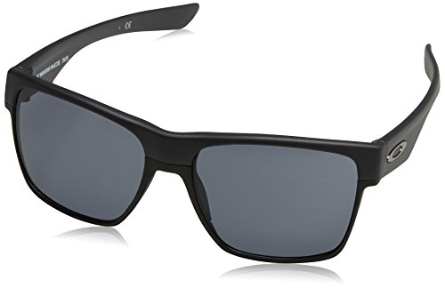 Oakley Men's OO9350 TwoFace XL Square Sunglasses, Steel/Grey, 59 mm ()