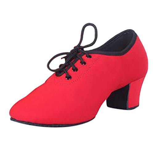 - Xinantime Women Dance Jazz Sneaker Woman Practice Shoes Modern Zoom Jazz Ballroom Dance Single Shoes Red
