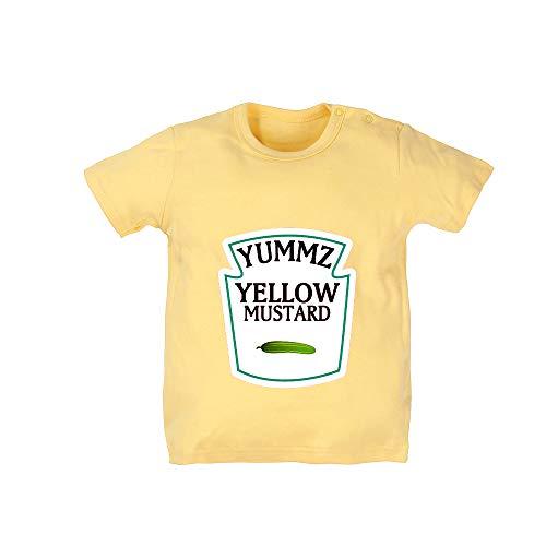 YSCULBUTOL Unisex Baby Bodysuit Boy Girl Short Sleeve T-Shirt A Pair Newborns Toddler Tee Shirts (Mustard, 4T)