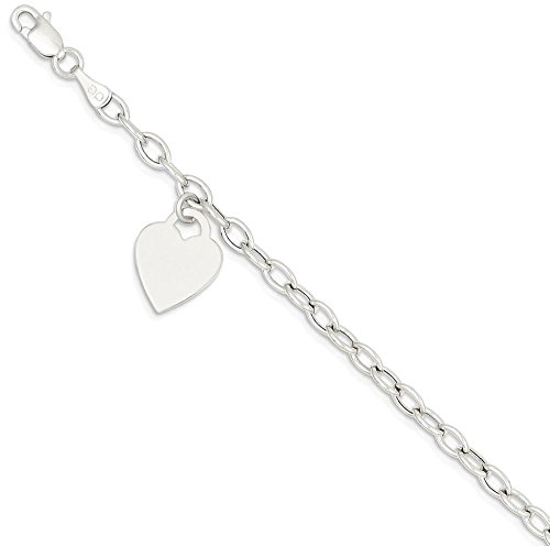 ICE CARATS 14k White Gold Dangle Heart Bracelet Charm /love Fine Jewelry Gift Set For Women Heart