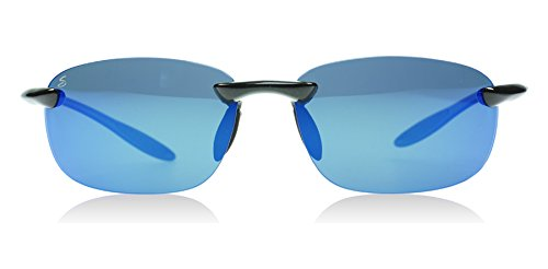 Serengeti 8129 Nuvola Metallic Black Polarized PhD 555nm Blue Mirror - Sunglasses Nuvola Serengeti