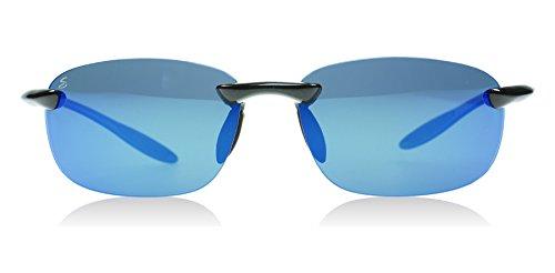 Serengeti 8129 Nuvola Metallic Black Polarized PhD 555nm Blue Mirror - Nuvola Serengeti Sunglasses