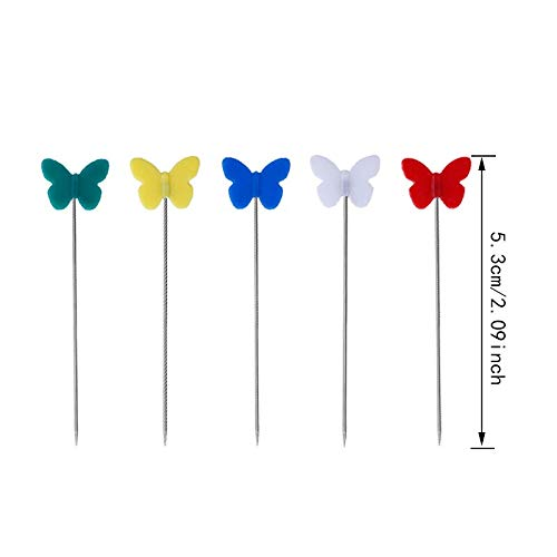 Patchwork Tool - 100pcs Quilting Pins Patchwork Butterfly Flat Head Sewing Mixed Colors Dressmaking Tool Needle by Ganos
