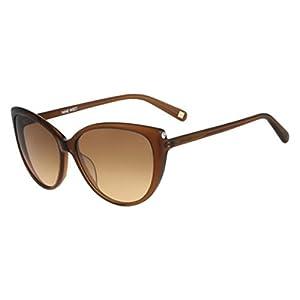Nine West Womens Gradient Oversized Cat Eye Sunglasses Brown O/S