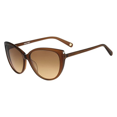 Nine West Womens Gradient Oversized Cat Eye Sunglasses Brown - Nine Polarized Sunglasses West