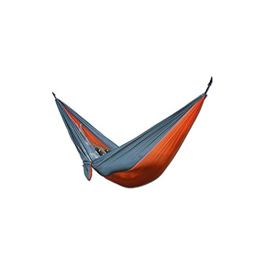 Quaanti 2018 Canvas Garden Hammock Camping Tent Outdoor Hammock Chair Portable Travel Beach Fabric Swing Bed New (Orange)