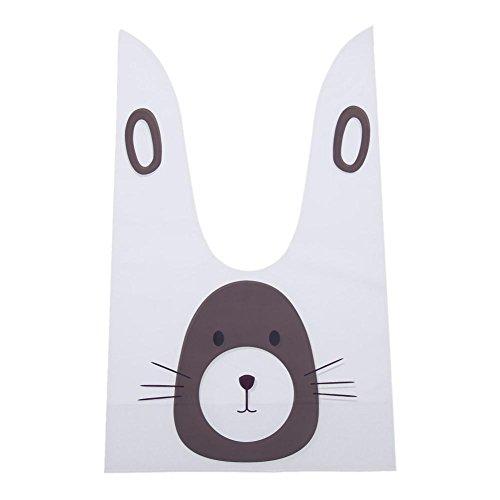 Whitelotous 50pcs Cartoon Pattern Biscuit Bags Cookie Flat Bags Candy Packaging - Bags Flat Cartoon