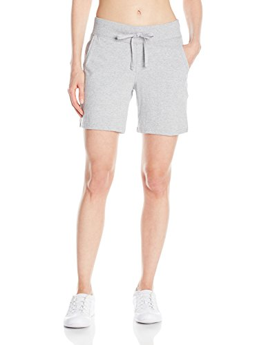 Hanes Women's Jersey Short, Light Steel, Large ()