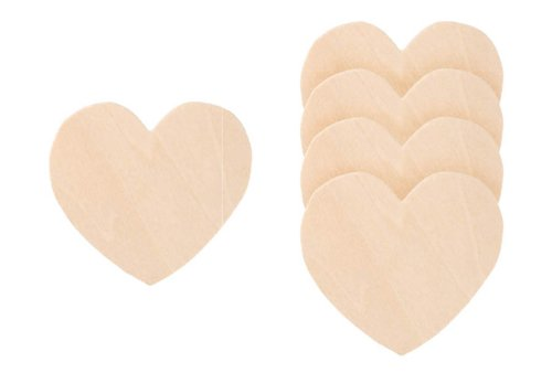 Darice 9138-41 Wood Heart Cutout,