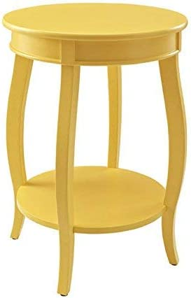 Powell Furniture Powell Round Shelf, Yellow Table