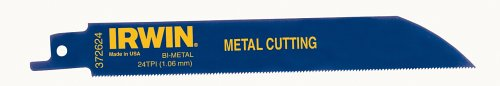 IRWIN Tools Reciprocating Saw Blade, Metal-Cutting, 6-Inch 24 TPI, 5 Pack -