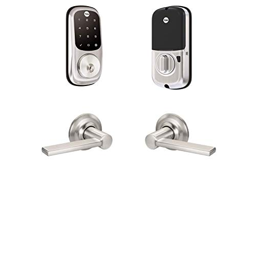 Yale Security B-YRD226-ZW-VL-619 Yale Assure Lock Z-Wave Valdosta Works with Ring Alarm, Smartthings, and Wink Smart Touchscreen Deadbolt with Matching Lever, Satin Nickel