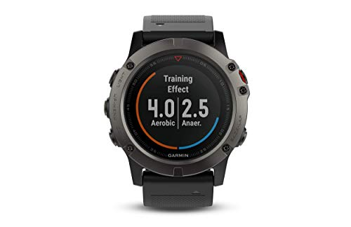 Edition Black Bezel - Garmin Fenix 5X Sapphire - Slate Gray with Black Band