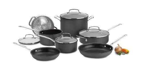 (Cuisinart 66-11 Chef's Classic Nonstick Hard-Anodized 11-Piece Cookware Set )
