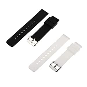 D DOLITY 2pcs Durable Silicone Wristband Bracelet Watch Band Strap Replacement 18mm