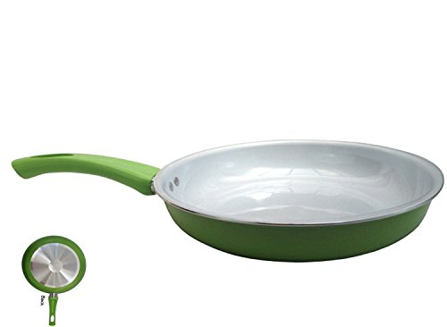 """Healthy 12"""" Large Nonstick Ceramic Coated Frying Pan - Eco Friendly Durable Fry and Saute Pan"""
