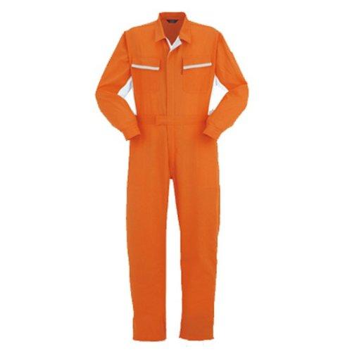 YAMATAKA(ヤマタカ)長袖つなぎ おしゃれ通気性、吸汗速乾性 春夏素材 yt-795 B01N174EOD 5L|オレンジ