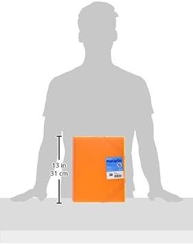 Grafoplás 39833052-Carpeta naranja de 30 fundas A4 con sobre. Con espiral: Amazon.es: Oficina y papelería