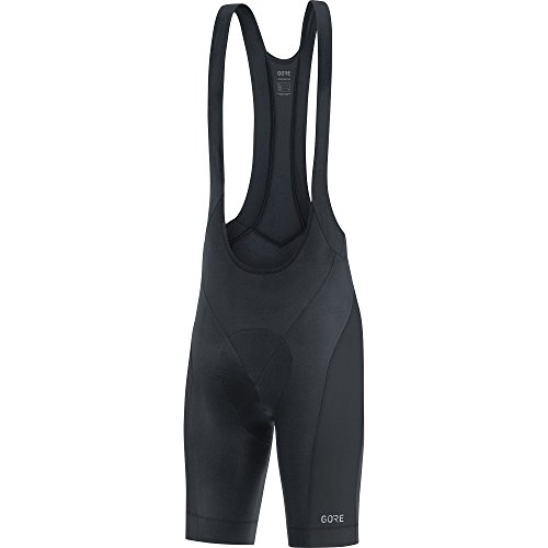 GORE Wear C3 Men's Short Cycling Bib Shorts With Seat Insert, M, Black