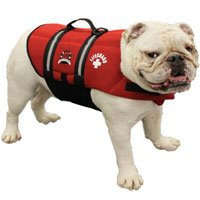 Paws Aboard Extra Extra Small Neoprene Designer Doggy Red Life Guard / Jacket Upto 2-6 lbs, My Pet Supplies