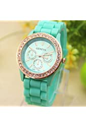Jelly Silicone Geneva Watch Women Rhinestone Watches