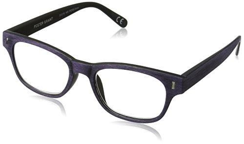 Foster Grant Women's Adeline 1017547-125.COM Wayfarer Reading Glasses, Purple, - 2016 Eyeglasses Trendy
