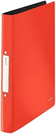 Leitz Solid quaderno ad anelli PP A4 rosso chiaro