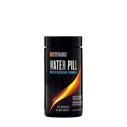 BodyDynamix Water Pill, 120 Capsules, Helps Regulate Water - Diuretic Pill Water