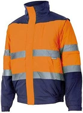 Velilla 161/C70/TS Cazadora de alta visibilidad, Azul marino y amarillo fluorescente, S: Amazon.es: Bricolaje y herramientas
