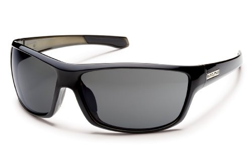 Suncloud Conductor Polarized Sunglasses, Black Backpaint Frame, Gray Lens (Lens Gray Frame Polarized)