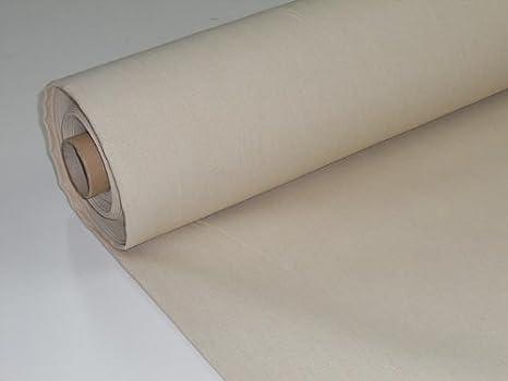 Metraje 0,50 mts. Tejido lona acrílica, color Crudo, con ancho 3,20 mts.