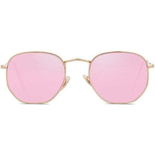 Mirrored Femme C2 de Bolara Lunette Lens Frame Gold Pink soleil qwH7gf