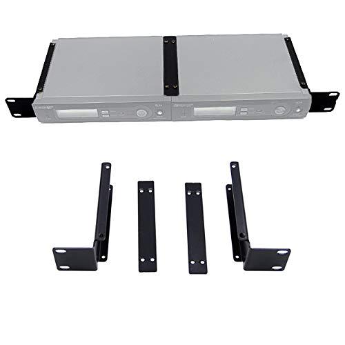 - Rhinos 1U Rack Mount Bracket Kit For Shure SLX4 2-Wireless Mic System Receiver
