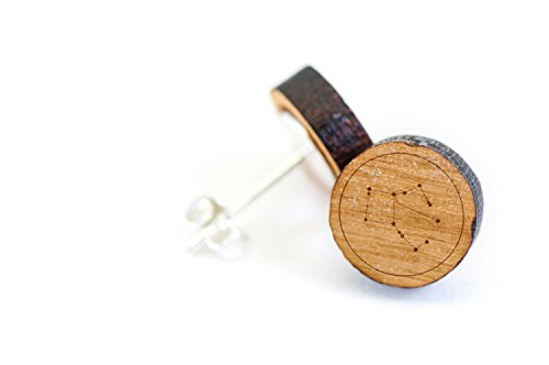 pegasus-stud-wooden-earrings-made-with-premium-american-cherry-wood