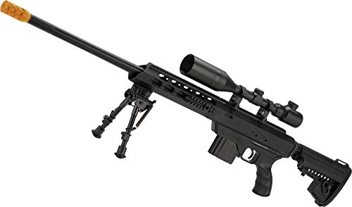 Evike King Arms MDT TAC21 Gas Powered Airsoft Sniper Rifle (Color: Black)