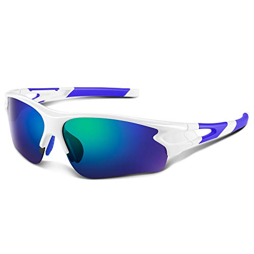 Bea·CooL Polarized Sports Sunglasses for Men Women Youth Baseball Fishing Cycling Running Golf Motorcycle Tac Glasses ()