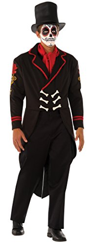 Rubie's Men's Senor Muertos Costume, Multi, One (Day Of The Dead Senor Adult Costumes)
