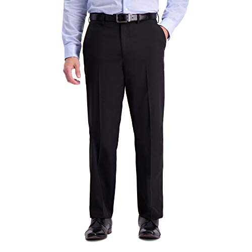 (Haggar Men's Active Series Stretch Classic Fit Suit Separate Pant, Black, 38Wx30L)