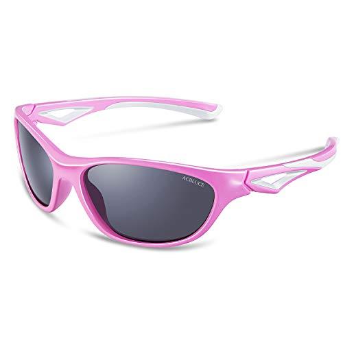 Junior Sport Swiss - Kids Polarized Sunglasses for Boys Girls Child Teen Toddler Wayfarer Youth Junior Sports Glasses