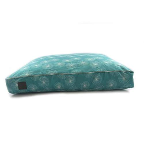 T & S Pet Products T & S Interior Floor Cushion Quilted Dandelion Teal Small