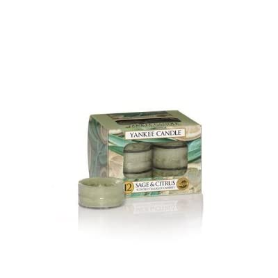 Yankee Candle Sage & Citrus Tea Lights -  - living-room-decor, living-room, candles - 31A6ngB7LOL. SS400  -