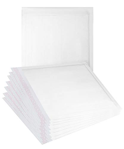 ABC 25 Pack White Kraft Padded envelopes 7.25 x 7 CD Bubble Mailers 7 1/4 x 7. Cushion envelopes. Laminated Kraft Paper mailers. Peal and Seal. Shipping, Mailing, Packaging. Wholesale Price