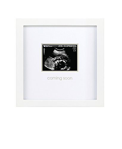 (Pearhead Coming Soon Sonogram Frame, White)